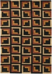 Couristan Kathmandu 0070/0055 Contemplation Black Closeout Area Rug