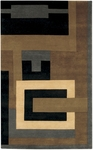Couristan Kathmandu 0082/0718 Fragments Multi/Khaki Closeout Area Rug