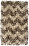 Rug Market Kids Shag 02284 Shaggy Raggy Brown Chevron Area Rug