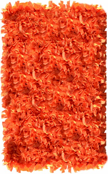 Rug Market Kids Shag 02287 Shaggy Raggy Neon Orange Area Rug