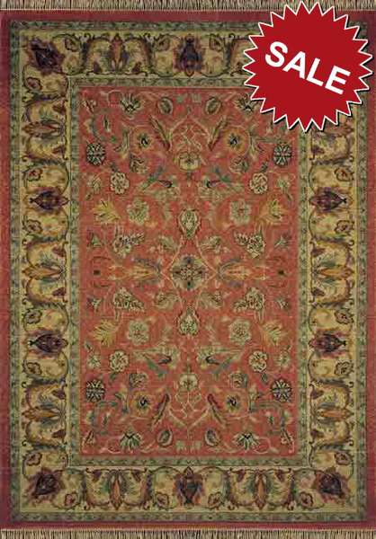 Oriental Weavers Patina 042c8 Salmon Closeout Area Rug