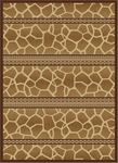 United Weavers China Garden 050 34257 Painted Giraffe Clay Closeout Area Rug