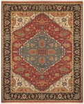 Feizy Goshen 0638F Red/Black Area Rug