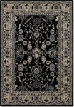 Couristan Bacara 0791/0700 Agassi Ebony/Beige Closeout Area Rug - Spring 2015