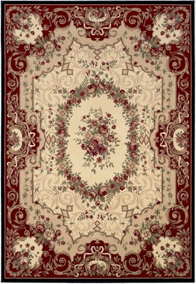 Home U003e Color U003e Burgundy U003e Couristan Everest 0795/5906 Floral Savonnerie  Burgundy Black Closeout Area Rug
