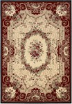 Couristan Everest 0795/5906 Floral Savonnerie Burgundy Black Closeout Area Rug