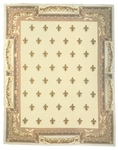 Peel & Company Needlepoint 1012-030 Orleans White Closeout Area Rug