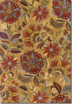 Couristan Botanique 1084/0466 Layla Gold Closeout Area Rug - Spring 2015