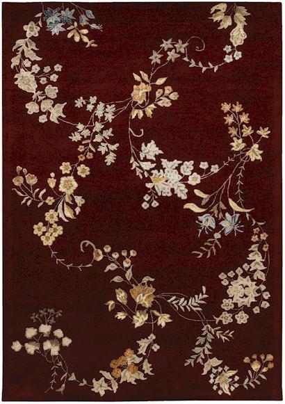home u003e color u003e burgundy u003e couristan givenry cherry blossom burgundy closeout area rug - Couristan Rugs