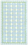 Rug Market Kids 11478 Harlequin Light Blue/Green/Ivory Closeout Area Rug
