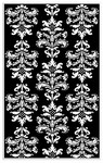 Rug Market Kids 11511 Mini Damask Black/White Closeout Area Rug