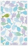 Rug Market Kids 11570 Guppies White/Purple/Green Closeout Area Rug