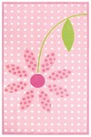 Rug Market Kids 11714 Bloom in Pink/White Closeout Area Rug