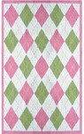 Rug Market Kids 11742 Haywood Bright White/Pink/Green Closeout Area Rug