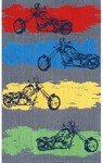 Rug Market Kids Playful Boy 11767 Motocross Grey/Blue/Red Area Rug