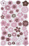 Rug Market Kids Floral 11769 Petunia White/Pink/Brown Area Rug