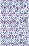 Rug Market Kids 11774 Iron Hearts White/Purple/Blue Closeout Area Rug
