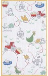 Rug Market Kids My First Rug 11775 Old Mcdonald White/Red/Green Area Rug