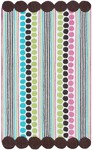 Rug Market Kids Tween 11776 Dot Redux White/Brown/Green Area Rug