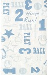 Rug Market Kids My First Rug 11784 Retro Ball White/Blue Area Rug