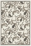 Couristan Recife 1180/7364 Paisley Scroll White/Black Closeout Area Rug - Spring 2010