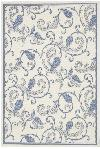 Couristan Recife 1180/7684 Paisley Scroll White/Blue Closeout Area Rug