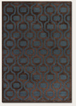 Couristan Pave 1220/0002 Retro Pendant Sapphire/Mahogany Closeout Area Rug - Spring 2013