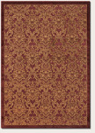 Couristan Pave 1225/0110 Petite Damask Garnet-Gold Closeout Area Rug - Spring 2013