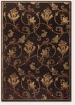 Couristan Pave 1227/0140 Petal Vine Mahogany/Ruby Closeout Area Rug - Spring 2013