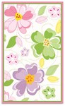 Rug Market Kids Floral 12352 Flower Stitch White/Green/Pink Area Rug