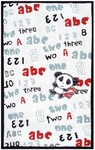 Rug Market My First Rug 12376 Panda Bear White/Red/Black/Grey Area Rug