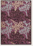 Couristan Pave 1238/0138 Olive Branch Amethyst/Mahogany Closeout Area Rug - Spring 2013