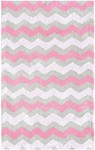Rug Market Kids Tween 12389 Ziggy-Zaggy Pink/Grey Area Rug