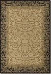 Couristan Everest 1284/4898 Fontana Gold/Black Closeout Area Rug - Spring 2016