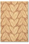 Couristan Recife 1515/0721 Tropical Ferns Cocoa/Natural Closeout Area Rug - Spring 2010