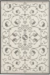 Couristan Recife 1583/7344 Veranda White/Black Closeout Area Rug - Spring 2010