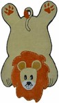 Rug Market Kids Safari 16490 Lion Gold/Orange Area Rug