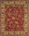 HRI Palace 1739 Red/Ivory Area Rug