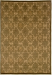Couristan Silken Treasures 1850/0007 Lotus Lattice Avocado Closeout Area Rug