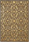 Couristan Silken Treasures 1850/0178 Dahlia Ash Grey Closeout Area Rug