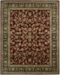 Nourison 2000 Collection 2002 Burgundy Area Rug