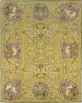 Peel & Company Needlepoint 2005 Chinese Tea Yellow Closeout Area Rug
