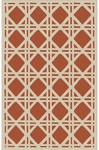 Rug Market Resort 25214 Cane Terracotta/Ivory Closeout Area Rug