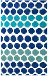 Rug Market Resort 25377 Limbo Blue White/Blue/Green Closeout Area Rug
