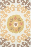 Rug Market Resort 25449 Suzani Gold/Yellow/White Area Rug