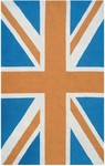 Rug Market Resort 25462 Union Jack Orange/Blue/White Area Rug