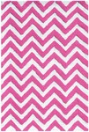 Rug Market Kids Tween 25608 Chevron Pink/White Area Rug