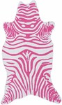 Rug Market Kids Safari 25618 Mini Zebra Pink/White Area Rug