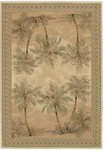 Couristan Everest 2803/6387 Palm Tree Desert Sand Closeout Area Rug - Spring 2016