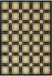 Couristan Everest 2830/0504 Royal Tartan Onyx Classic Ivory Closeout Area Rug